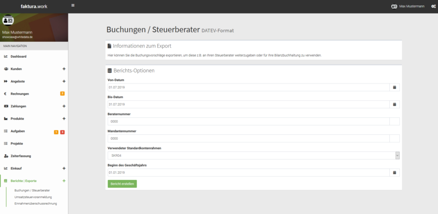 Export Steuerberater